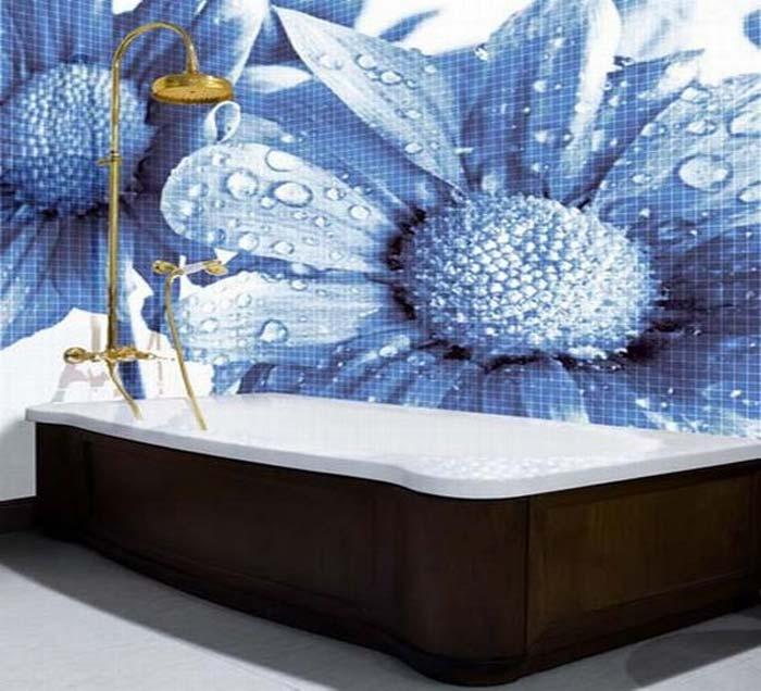 Gạch Mosaic điểm nhấn cho thiết kế bể bơi